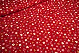 mollipolli-Stoffe Baumwollstoff Weihnachten weiß goldene