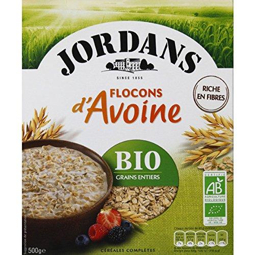 jordans Flocons d'Avoine. Riche en fibres. BIO grains entiers ( Prix unitaire ) - Envoi Rapide Et Soignée