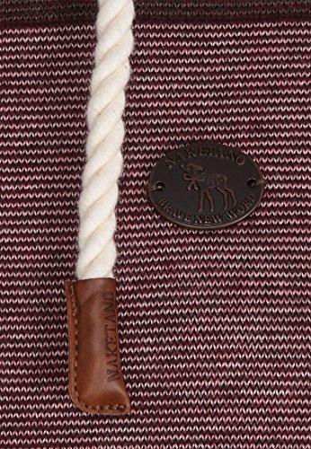 Naketano Female Knit Joao Schmierao Brown Melange Striped