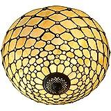 Arte Dal mondo arco lámpara de techo de cristal tiffany-style artesanía PA16028-2