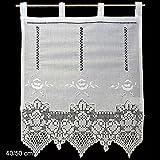 Fensterdeko Gardine Hossner | 50x40 cm H/B | weiß | 100 % Baumwolle