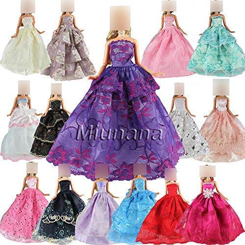 Preisvergleich Produktbild 5er Packung Handmade Modisch Hochzeit Party Abendkleid Kleider & Kleidung für Barbie-puppe Weihnachten Geschenk