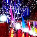 Clode® 30CM LED beleuchtet Meteor Dusche Regen Schneefall Weihnachtsbaum Garten im Freien (blau)
