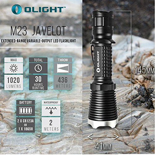Preisvergleich Produktbild PhilMat Olight M23 Javelot CREE XP-L LED 1020LM 3Modes LED Taschenlampe 436M