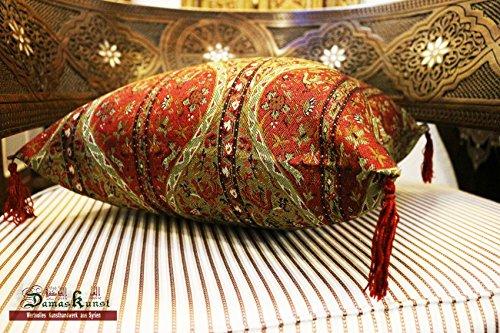 Neuf bordeaux rouge, Taie d'oreiller, housse de coussin, coussin déco orientale orientales tissus, Damas Unst S 2–2 de 4030