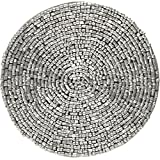 Tea Coaster Silver Beaded Placemat Home Decorations Indian, Set Of Four