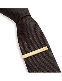 LEAPCOVER Wood Skinny Tie Bar Clip - Pin único de la corbata - clip de lazo de 1,65 pulgadas para hombres con Giftbox (Tie Bar, Taxus)