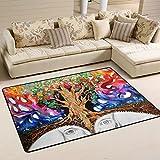 COOSUN Trippy Art Nature Bereich Teppich Teppich rutschfeste Fußmatte Fußmatten für Wohnzimmer Schlafzimmer 182.9 x 121.9 cm, Textil, multi, 72 x 48 inch