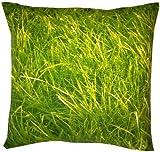 Kissenbezug Traumwiese Rasen GRÜN Kissenhülle für Kissen Gartenkissen Sitzkissen Zierkissenbezug (Grün, 40 X 40 cm)