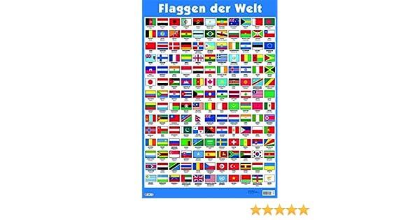 Mein Lernposter Flaggen Der Welt Amazon De Bücher