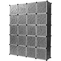 Turefans 20 Cubes, Armoire en Plastique, Armoire modulaire, Casiers en Plastique, Bricolage, vêtements de Rangement…