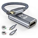 4k Micro HDMI auf HDMI Adapter - Snowkids Micro HDMI Adapter Nylon Geflecht Micro HDMi zu HDMI Kabel Unterstützt…