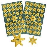 Avery Zweckform 52771 Lot de 36autocollants de Noël Matériau spécifique Sterne Adventszahlen