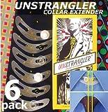6-Pk UNSTRANGLER COLLAR EXTENDER KNOPFE: Kragenerweiterung. Hemdkragen Extender/Verlängerung: + 1,5 cm Mehr Komfort Beim Binden Einer Krawatte.