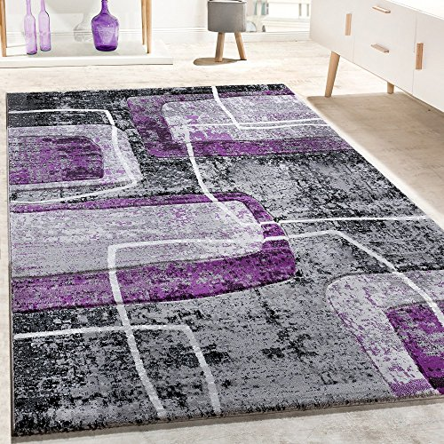 designer-teppich-konturenschnitt-retro-muster-in-grau-schwarz-lila-meliert-grosse80x300-cm
