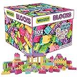 Wader 102 Blocks Bausteine Mega Bloxs in Aufbewahrungsbox pastell Kleinkinder