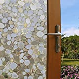 Coavas Privacy Window Film Cobblestone No-Glue 3D Window Flim for Bathroom or Kitchen (17.7-by-78.7 Inch)