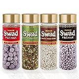 Panjon Swad Mouth Freshener (Shahi Anardana Goli, White Sweet Saunf, Shahi Navratan Mix & Special Jeera Goli) (Combo of 4), 440 gm