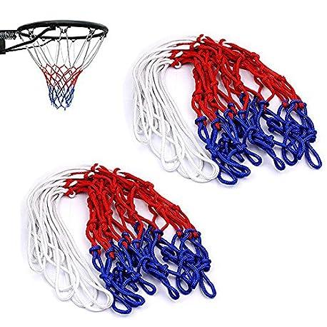 KANKOO Red de Baloncesto Color 12 Lazos Polipropileno Red de Baloncesto est ndar para Adultos para Deportes de Interior y al Ai