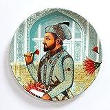 #8: KOLOROBIA ROYAL MUGHAL EMPEROR SHAHNAHAN INSPIRED HOME DECOR WALL PLATE 10 INCHES
