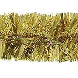 Kraftz®Dicke Weihnachtsbaum-Lamettagirlande für Feste, Geburtstage, Partys, Hochzeiten, Dekoration, 2 m x 11 cm gold