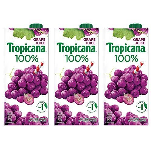 Tropicana Grape 100% Juice 1L (Pack of 3)