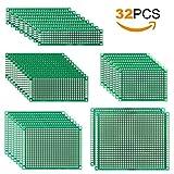 MVPOWER Lochrasterplatine doppelseitig Lochrasterplatte PCB Board kit Leiterplatte Set (32 PCs)