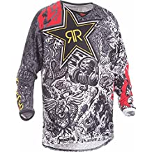 Fly Racing Mountainbike & Motocross Mesh Hemd Rockstar schwarz-weiß Fahrerhemd