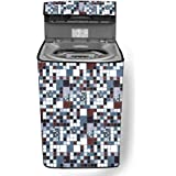 Stylista Washing Machine Cover Suitable for Godrej 6.2 Kg Fully-Automatic Top Loading WT EON 620 Abstract Pattern Grey