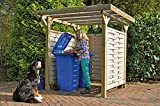 Unbekannt Mülltonnen-Box Holzunterstand Mülltonnenhäuschen Bikeport