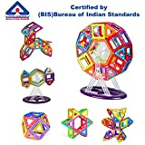 #9: Kurtzy Magnetic Building Block DIY Construction Puzzle Toy Set for Kids Children Learning Educational Creative Activity with Certified by BIS 86 Pcs