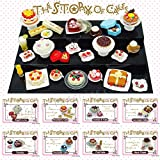 ORCARA Miniature Dollhouse The Story of Cake Cookie Dessert Toy Doll Accessories by Odoria