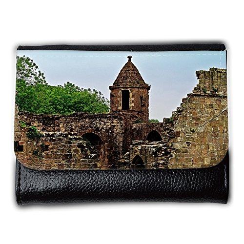 Portemonnaie Geldbörse Brieftasche // M00155083 Ruinen Wände Architektur Hintergrund // Medium Size Wallet (Wand Architektur)