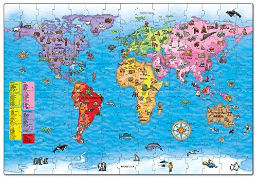 Orchard-Toys-Puzle-y-pster-diseo-mapa-del-mundo-en-ingls-Importado-de-Gran-Bretaa