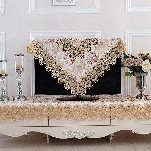 ZBB Europäische Jacquard Tischdecke Runde Tischdecke TV Abdeckung Handtuch Kühlschrank Handtuch Tabelle fabray Seide Spitze Tischdecke - Eine 80 x 300 cm (31 x 118 cm)