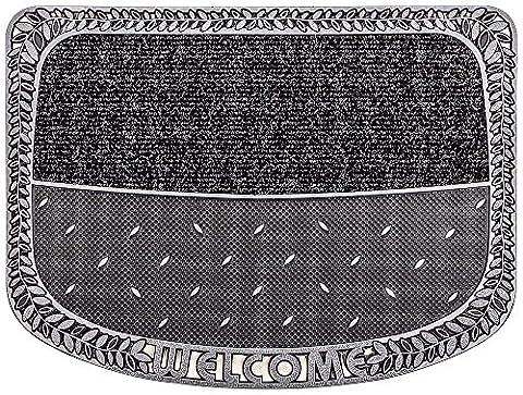 PUR|TwinClean Design Fussmatte für Innen und Aussen in graphit anthrazit metallic ca. 75 x 57 cm