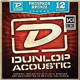 Dunlop corde della chitarra acustica di bronzo fosforoso Chiaro White Black Red Blue