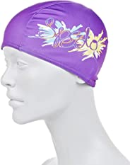Speedo Polyester Printed Cap Junior Purple