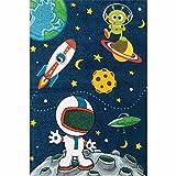 XXL Discount Kinderteppich mit Astronauten/Weltraum Motiv Kinderzimmer Teppich Spielteppich Größe 160 x 230 cm