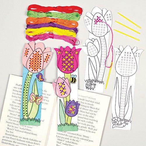 kits-de-marque-pages-tulipes-coudre-au-point-de-croix-que-les-enfants-pourront-confectionner-et-dcor