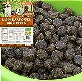LuCano 15 kg Lamm - Kartoffel | ohne Getreide und Soja | Premium Hunde Trockenfutter mit Lecithin für EIN schönes Fell
