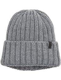Wrangler Men's Chunky Knit Hat Beanie, Grey (Grey 37), One Size (Manufacturer Size: 88/88)