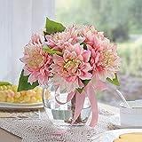 Simulación de mesa de café decoración de la mesa de comedor Decoración de flores falsas Decoración de hogar fresco Fake flores