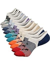 Anliceform Socquettes taille basse pour homme, invisible, antidérapantes en coton peigné chaussettes premium