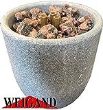 Weigand Saunabrunnen XL aus Speckstein für die Sauna I Schönes, beruhigendes Erlebnis für die Sinne I Saunazubehör I Zubehör I Saunaspringbrunnen I Aufgussstein I Geschenk I Brunnen XL
