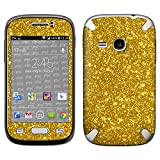 atFolix Samsung Galaxy Young (GT-S6310) Skin FX-Glitter-Gold-Rush Designfolie Sticker - Reflektierende Glitzerfolie