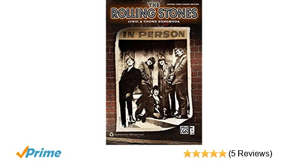 Rolling Stones -- Lyric & Chord Songbook: Amazon co uk