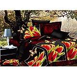 200x220 cm 3D Microfaser Bettwäsche Bettbezüge Bettwäschegarnituren 3tlg schöne Farben und Muster FSH278