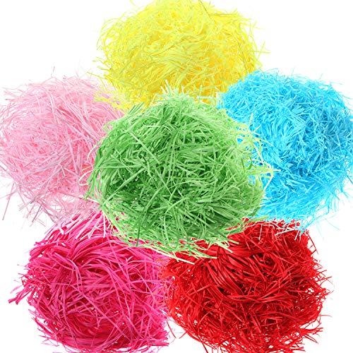 s Geschreddert Papier Korb Gras Füller für Handwerk Geschenke Verpackung Füllung, 6 Farben ()