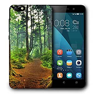 Snoogg Patternd Forest Printed Protective Phone Back Case Cover For Huawei Honor 4X